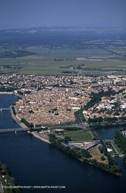 Rhône river south of Arles