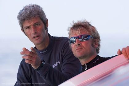 11 10 2007 - Bénodet (Fra, 29) - Monocoques IMOCA - Transat Jacques Vabre - onboard GENERALI with Yann Eliès and Sebastien Audigane