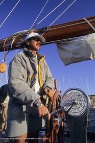 Sailing, cruising, people, only one man