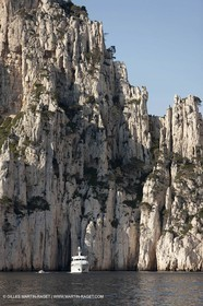 06 05 2009 - Marseille (FRA, 13) - Les Calanques - Au pied des falaises de Castelviel