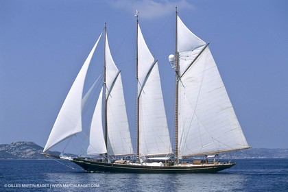 Costa Smeralda (Italia, Sardinia), Shenandoah - Classic yachts in La Maddalena archipelago, Shenandoah