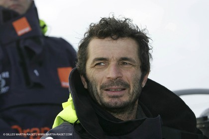 Orange II  - 2005 Jules Verne Trophy - Training in Bay of Biscay -Yves le Blévec-