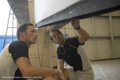 Sydney, Australia, Thomas Coville trimaran Sodebo building at Boat Speed