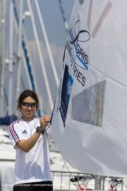 23 04 2007 - 2007 Semaine Olympique Française - Hyères (South of France) - Day 2 - Team France - Laser Radial - de Turckheim Sophie