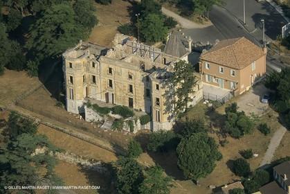 France, Provence, Pays d'Aubagne, collines de Marcel Pagnol, Charteau de la BUsine
