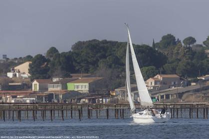 28 01 2016, Sète (FRA,34), Cruising on Thau Basin