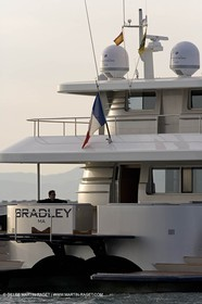 11 06 2007 - Valencia (Spain) - Super Yacht Catamaran Bradley, Gilles Vaton design built by H2X in la Ciotat (France)