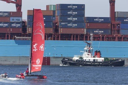 12 11 2014, Capetown (ZAF), Volvo Ocean Race 2014-15, Team Alvimedica goes back training