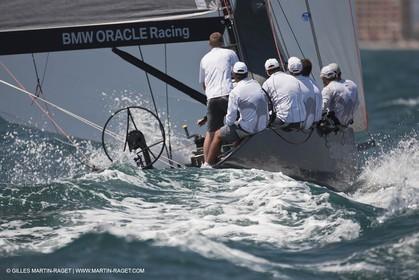 31 07 2010 - Valencia (ESP) - BMW ORACLE Racing - RC 44 Valencia Cup - fleet racing - Day 2