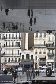 04 02 2013 - Marseille (FRA,13) - Vieux Port (historical port) refit - Works on the shadow maker