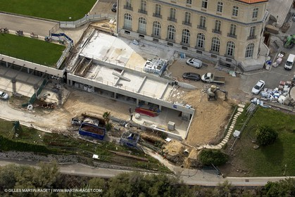 28 09 2012 - Marseille (FRA,13) - Travaux sur le Vieux Port, Construction du MUCEM, Renovation du Fort Saint Jean, construction du Centre Régional de la Meriterranée, CEREM,