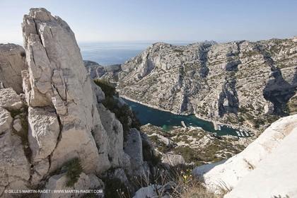 11 03 2009 - Marseille (FRA, 13) - Les Calanques- Calanque de Morgiou as seen from Crêt St Michel belvedere