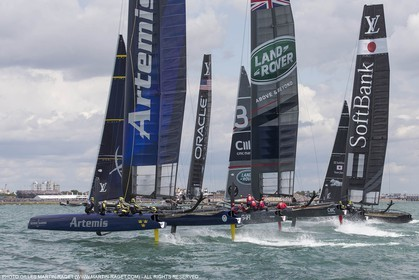 25 07 2015, Portsmouth (GBR), 35th America's Cup, Louis Vuitton America's Cup World Series Portsmouth 2015, Race Day 1