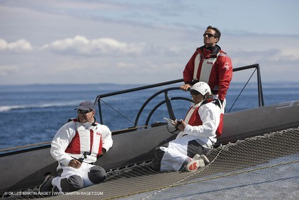 06 09 2008 - Anacortes (WA, USA) - America's Cup - BMW ORACLE Racing - 90 ft trimaran sea trials - Day 5
