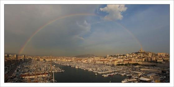 Marseilles - The historical port under the rainbow