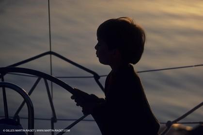 Sailing, cruising, children onboard