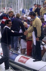 America's cup - San Diego 1995  - Paul Cayard - Russell Coutts