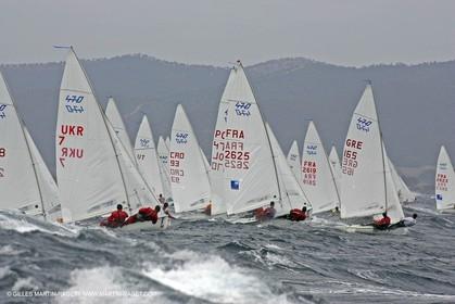 Semaine Olympique Française de Voile 2005 - Jour 1 - 470