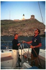 Giraglia 1981, Onboard Helisara VI, Dennis Conner