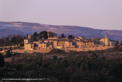 Landscapes and villages of Luberon national Park (FRA,04), Blauvac