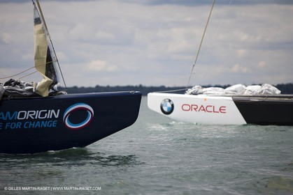 02 08 2010 - Cowes (UK, IOW) 1851 Cup -  BMW ORACLE Racing - Training Day.