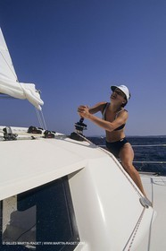 Sailing, cruising, people, women