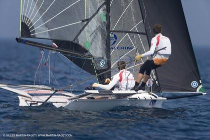 23 04 2007 - 2007 Semaine Olympique Française - Hyères (South of France) - Day 2 - Team France - 49er - MONTEAU - GUILLOU Damien