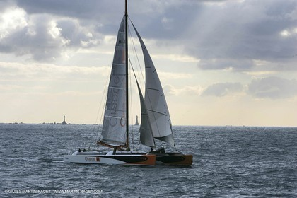 Orange II-2005 Jules Verne Trophy-Start from Ushant