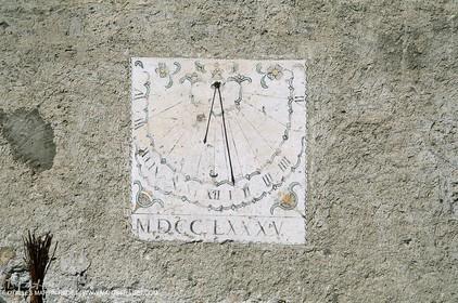 France - Southern Alps - Solar clocks