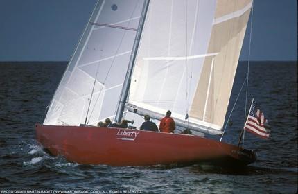 Sailing, Yacht Racing, America's Cup XVI, Newport (USA,RI), 1983, Liberty