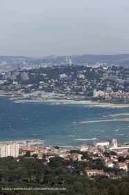 25 03 2009 - Marseille (FRA, 13) - Les Calanques - Massif de Marseilleveyre - Quartier de La Pointe Rouge et rade sud