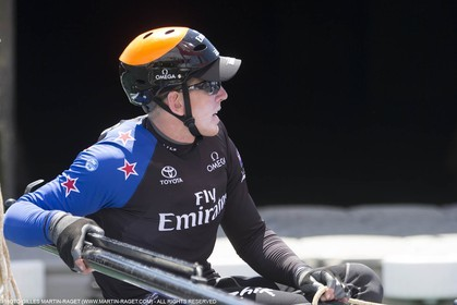 22 07 2015, Portsmouth (GBR), 35th America's Cup, Louis Vuitton America's Cup World Series Portsmouth 2015, Training Day 3, Emirates Team New Zealand, Peter Burling
