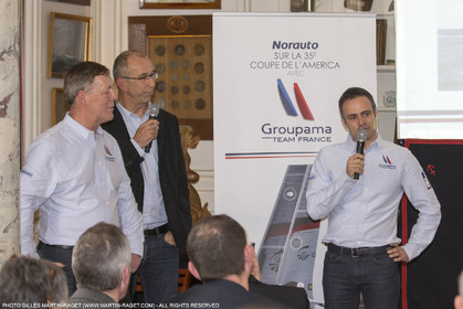 22 02 2016, Paris (FRA), 35th America's Cup, Groupama Team France announces Norauto as official partner at Yacht Club de France