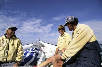 America's Cup, San Diego 1995 - Team NZ - Brad Butterworth, Peter Blake, Russell Coutts