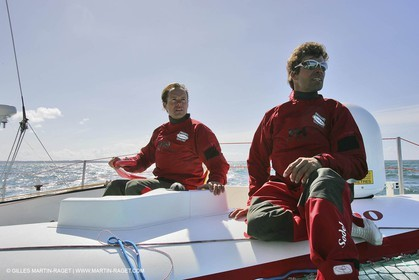 Orma 2005 - Sodebo - April training - Thomas Coville + Jacques Vincent