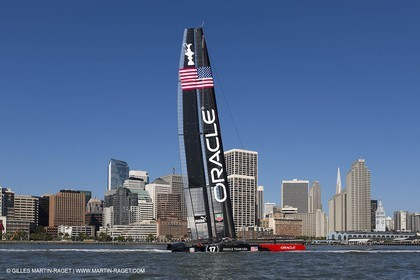 23 05 2013 - San Francisco (USA,CA) - 34th America's Cup - May Training, 3 AC72 in the bay for the first time