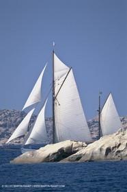 Costa Smeralda (Italia, Sardinia) - Classic yachts in La Maddalena archipelago, Thendara