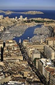 Marseilles, Canebière Av. and historical port