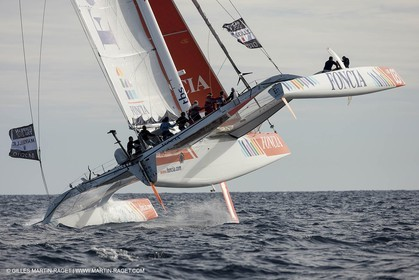 27 09 2012 - Marseille (FRA,13) - Alpari World Match Race Tour - Match Race France 2012 - Day 3 - Quarter finals - Matc Racing specialists sail on Foncia