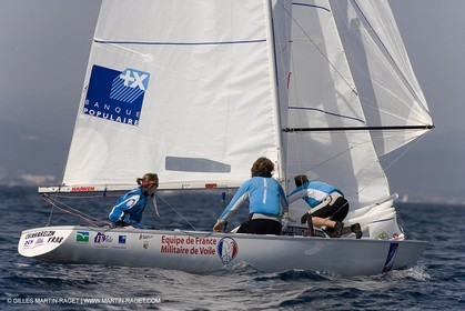 25 04 2007 - 2007 Semaine Olympique Française - Hyères (South of France) - Day 4 - Team France - Yingling - Leberre-Gerecht-Ponsar