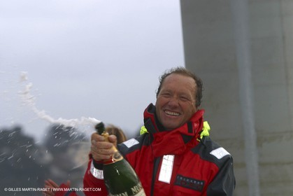 Round the world solo record - Idec - Francis Joyon - Brest finish