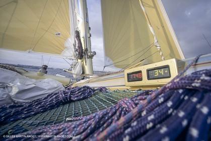 Sailing, Offshore Racing, Route du Rhum 1990, Groupe Pierre 1er, Florence Arthaud