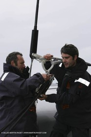 Orange II - Jules Verne Trophy 2005 - Traning Lorient - Péché + Chastel -