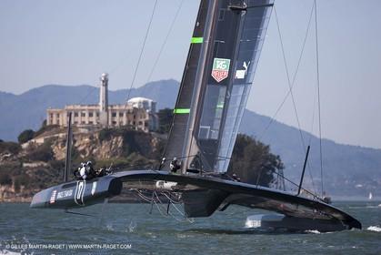 01 10 2012, San Francisco (USA,CA), 34th America's Cup, ORACLE Team USA AC72 training