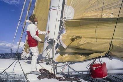 Sailing, Offshore Racing, Route du Rhum 1990, RMO, Laurent Bourgnon
