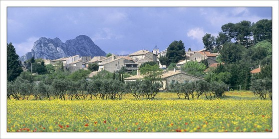 .LES ALPILLES - EYGALIERES..Product: in house made quality print on 8 ultrachome colors Epson ink Jet printer...Available sizes: .. 50 x 100 cm.. 100 x 200 cm..Available papers: .. Standard 250 gr glossy paper print, black streak, white margin, no signature.. Top quality glossy 290 gr. paper, black streak, white margin, checked and signed by the author.. Fine Art print (signed, numbered, stamped, registered) on demand.. Other supports (Canvas, Acrylic, Metal) on demand..Packaging: cylindric reinforced tube..Shipping options: regular mail or Shipping company..Click on the basket icon to select your options and start the online ordering process.