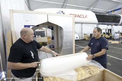 04 06 2008 - San Diego (USA, CA) - 33 rd America's Cup - BMW ORACLE Racing - 90 ft trimaran  modifications