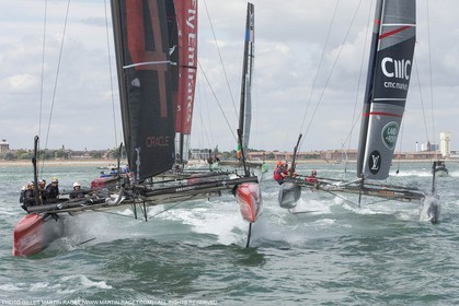 23 07 2015, Portsmouth (GBR), 35th America's Cup, Louis Vuitton America's Cup World Series Portsmouth 2015, Opening Day