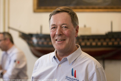 22 02 2016, Paris (FRA), 35th America's Cup, Groupama Team France announces Norauto as official partner at Yacht Club de France, Thibault Derville (Norauto)