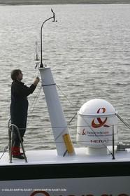 Orange II  - 2005 Jules Verne Trophy - Training in Bay of Biscay - Roger Nilson -
